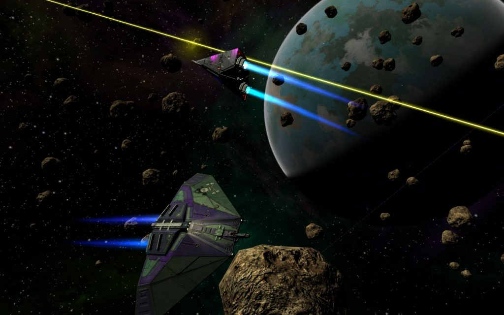 Oolite another commander dogfight asteroid field