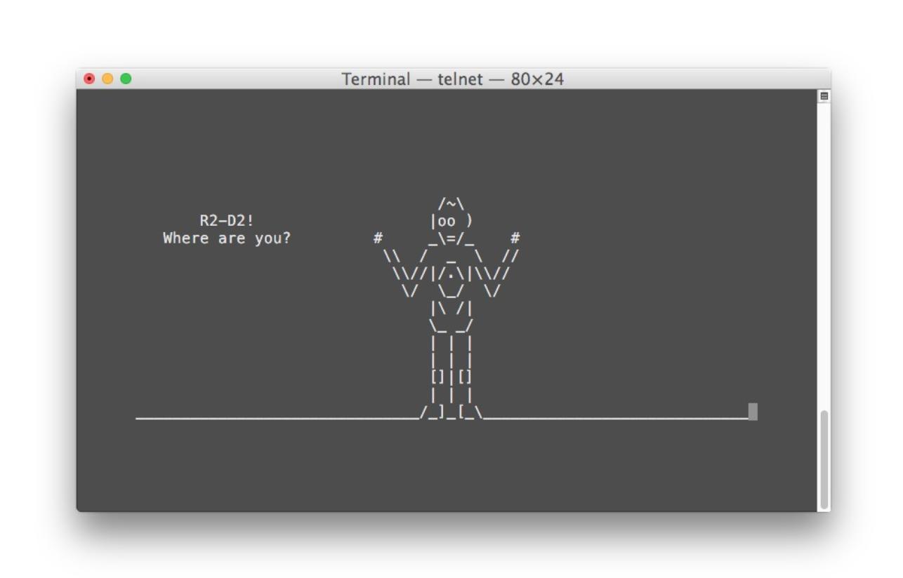 Star Wars in ASCII