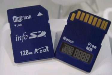 A-DATA sdcard with LCD