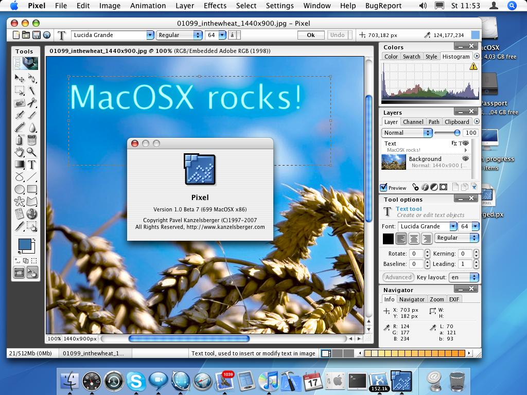 Pixel photo editor on macOS