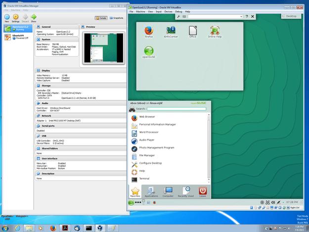 VirtualBox OpenSuse 13.2 on Windows 7