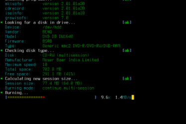 Burn CD linux tool
