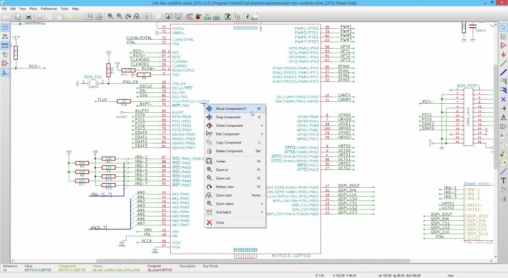 KiCad eeschema component options